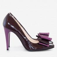 Pantofi Stiletto Lac Mov Fundite Supradimensionate - orice culoare