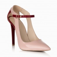 Pantofi Stiletto Lac Nude/Bordo S15 - orice culoare