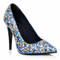 Pantofi Piele Multicolor Stiletto Karla T32- Orice Culoare