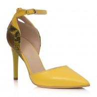 Pantofi Stiletto Galben/Bronz Emily C70 - disponibili pe orice culoare