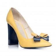 Pantofi Stiletto Toc Gros Galben S1 - orice culoare