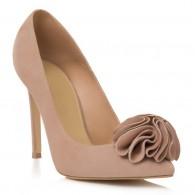 Pantofi Stiletto Piele Intoarsa Nude Grace L41 - Orice Culoare