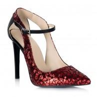 Pantofi Stiletto Piele Rosu Imprimeu S15 - orice culoare