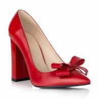Pantofi Stiletto Toc Gros Rosu S1 - orice culoare