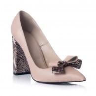 Pantofi Stiletto Toc Gros Snake S1 - orice culoare