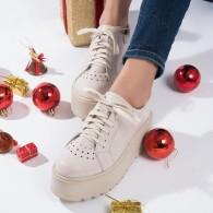 Pantofi Piele Talpa Inalta Nude V48  - orice culoare