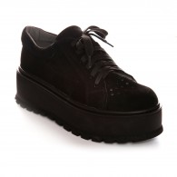 Pantofi Piele Talpa Inalta Negru V48  - orice culoare