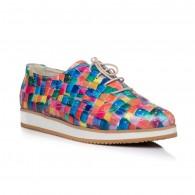 Pantofi piele Oxford Varf ascutit Multicolor V2  - orice culoare