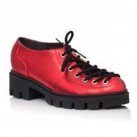 Pantofi Talpa Bocanc Piele Rosu Sidef V70 - orice culoare