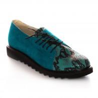 Pantofi Piele Turcoaz Arlene V50  - orice culoare