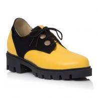 Pantofi Piele GalbenaTalpa Joasa Iasmin V25 - Orice Culoare