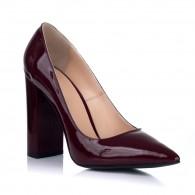 Pantofi Dama Piele Lacuita Bordo S3 - orice culoare
