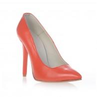 Pantofi Stiletto Very Chic  Corai piele naturala - disponibili pe orice culoare
