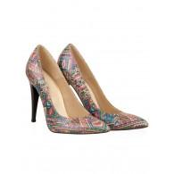 Pantofi stiletto piele naturala Multicolor N31 - orice culoare