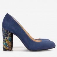 Pantofi Dama Bleumarin/Floral Fabiola D12 - orice culoare