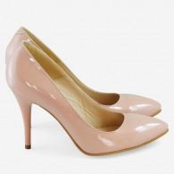 Pantofi Stiltto Piele Lacuita Nude D51 - orice culoare