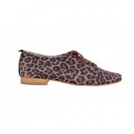 Pantofi Oxford 5 piele intoarsa Animal Print