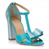 Sandale Piele Turcoaz Derin T8  - orice culoare