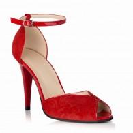 Sandale Piele Intoarsa Rosu S12 - orice culoare