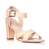 Sandale dama piele lacuita nude Odette S8 - Orice culoare