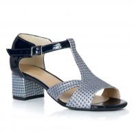 Sandale Piele Bleumarin Model Cybill T11 - orice culoare