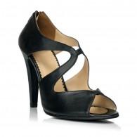 Sandale dama piele negru Elegant F17 - orice culoare