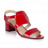 Sandale dama pielelacuita rosu Julia V15 - Orice culoare