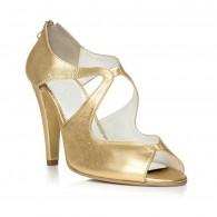 Sandale dama piele auriu Elegant F17 - orice culoare