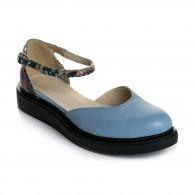 Sandale Talpa Joasa Piele Bleu Anabel V7   - Orice Culoare