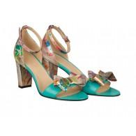 Sandale Dama Piele Colorata/Turcoaz Sibel N41 - orice culoare