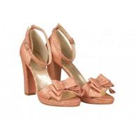 Sandale Piele Corai/Bronz Amely N46 - orice culoare