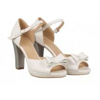 Sandale Mireasa Piele Ivory/Argintiu N43 - orice culoare