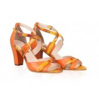 Sandale Dama Piele Portocaliu Jonil N26 - orice culoare