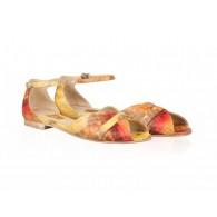 Sandale Dama Sarpe Rosu/Galben Dreamer N12 - orice culoare