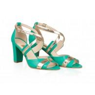 Sandale Dama Piele Verde Jonil N26 - orice culoare