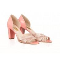 Sandale Dama Piele Corai Emily N24 - Orice Culoare