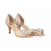Sandale dama piele nude/color Delice N22 - orice culoare