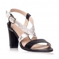 Sandale dama piele negru/revista Sabi S9 - Orice culoare
