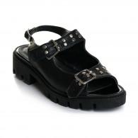 Sandale Dama  Piele Cu Tinte Rock V12 -  Orice Culoare