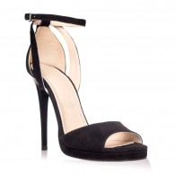 Sandale dama piele intoarsa negru Lola S2 - pe stoc