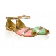 Sandale dama talpa joasa N1- Piele naturala