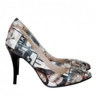 Pantofi Dama D73 Piele Naturala - orice culoare