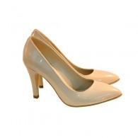 Pantofi stiletto Diva piele lacuita nude - orice culoare