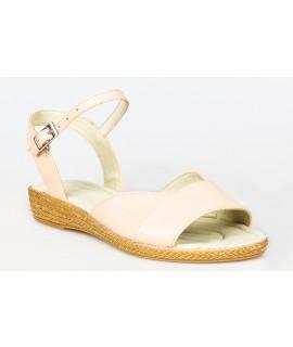 Sandale dama talpa joasa piele Portocaliu P9 - orice culoare