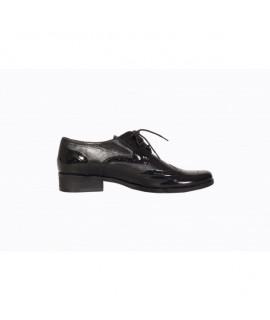 Pantofi Oxford piele naturala si lacuita  V2- orice culoare