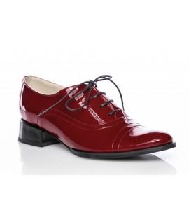 Pantofi Oxford 4 piele lacuita visiniu - orice culoare