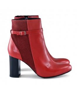 Botine piele rosu Sophia D8 - orice culoare
