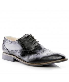 Pantofi barbati piele naturala negru I2 - orice culoare