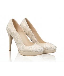 Pantofi mireasa N43 White Lace - orice culoare
