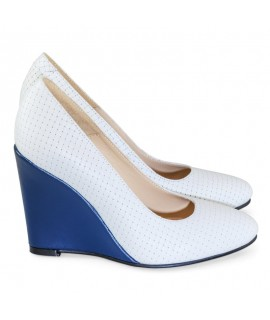 Pantofi cu Platforma Piele Alb D10 - orice culoare